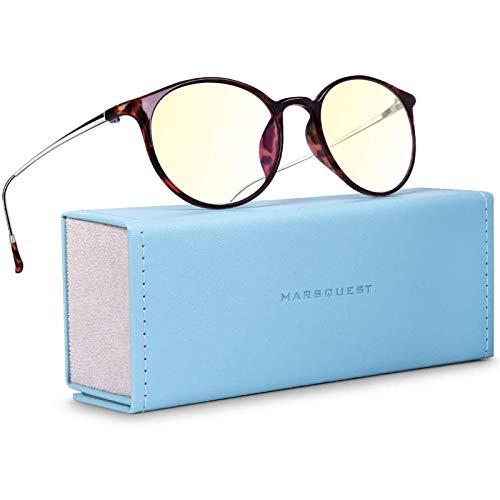 MARSQUEST ブルーライトカットメガネ 度なし パソコン用メガネ UVA・UVB・HEVカット 90%有害光カットメガネ...