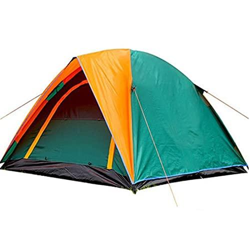 TAIYUANNT Tienda Campaña Tienda de campaña de Playa Abierta Camping al Aire Libre 3-4 Persona Cortavientos Dual Capa Impermeable Barraca de acampamento Tente De Camping Tienda (Color : 380 Green)