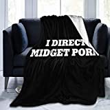Fleece Blankets, Soft Cozy Throw Blankets Unisex for Boys, Girls, Kids, I Direct Midget Porn Blankets, Decorative All Season Blankets for Bed Sofa Couch, 40x50 Inch