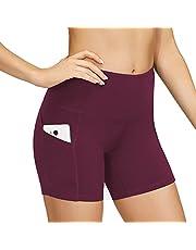 Ducomi Noas Fitnessshorts voor dames, kort, 2 zijzakken, voor racen, hardlopen, training, fitnessstudio, thuis, yoga, pilates, racesport leggings