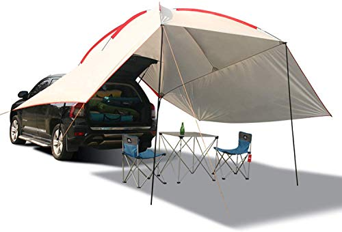 REDCAMP Waterproof Car Awning Sun Shelter, Portable Auto Canopy Camper Trailer Sun Shade for...