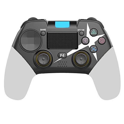 FLLKIHH Mando inalámbrico para PS4 Remote para Playstation 4 con Cable de Carga y Doble Descarga,White 2