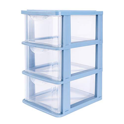Yardwe Caja de almacenamiento multicapa para cajón a prueba de polvo, color azul