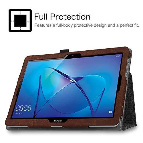 Fintie Huawei Mediapad T3 10 Hülle Case - Ultra Schlank Folio Stoff Schutzhülle Case mit Standfunktion für Huawei MediaPad T3 (9,6 Zoll) 24,3 cm Tablet-PC, Denim dunkelgrau - 2