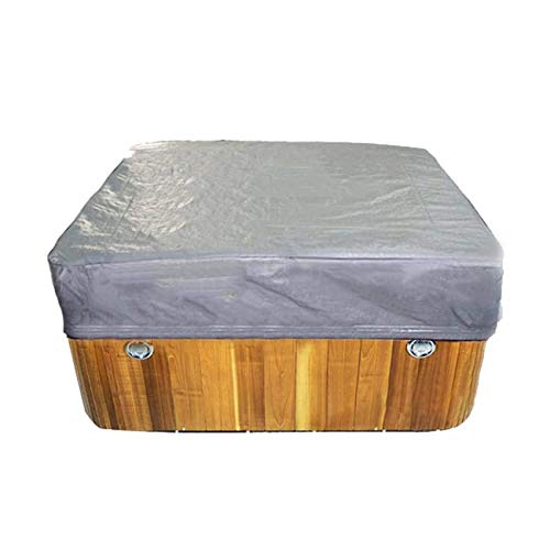 NOL Outdoor Hot Tub Cover, Square, Dust Proof Cover, Protector, SPA Bath Pool Cover, Heavy Duty, Waterproof, Bathtub Cover (3 Sizes choose) (231 * 231 * 30cm)