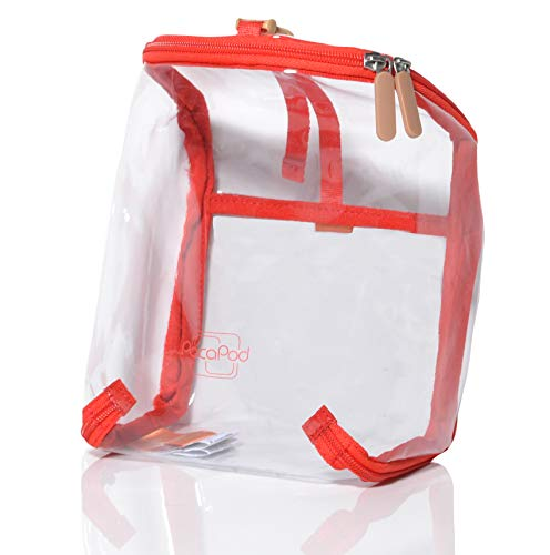 PacaPod Travel Pod - Clear Travel Accessory- Folds Flat for Easy Storage (Flame Clear)