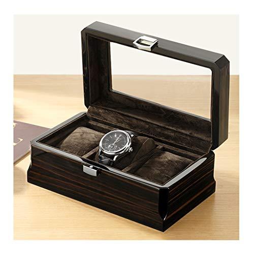 Yxx max Houten Glas Horloge Doos Multifunctionele Draagbare Sieraden Horloge Opslag Display Doos 3 Grids Doos