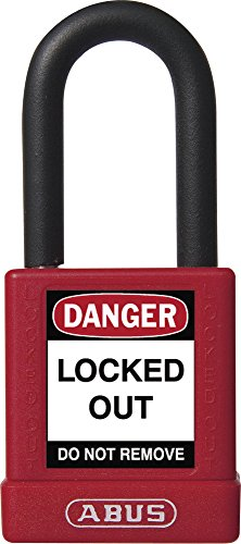 ABUS 59108 Non Conductive Lock Out Tag Out Anodized Aluminium Padlock -
