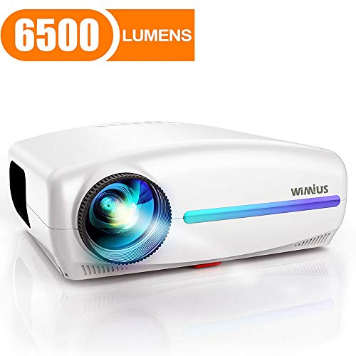 Big Save! Projector, WiMiUS Native 1080P Projector 6500 Lumens Led Video Projector Support 4K HD Zoo...