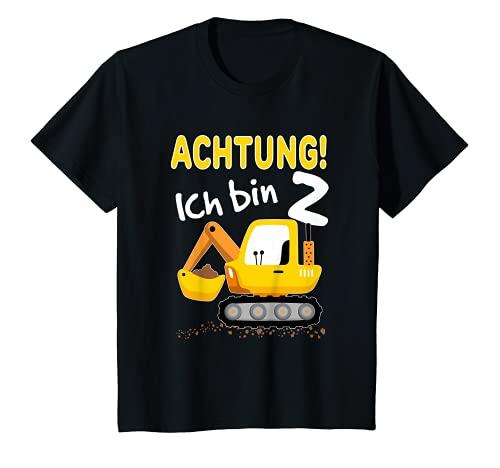 Kinder Bagger T-Shirt 2. Geburtstag Jungen 2 Jahre Shirt Baustelle T-Shirt