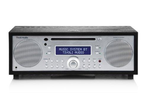 Tivoli MSYBT-1459-EU Music System BT Bluetooth UKW/MW/CD 2.1 Lautsprechersystem schwarzer Esche/silber