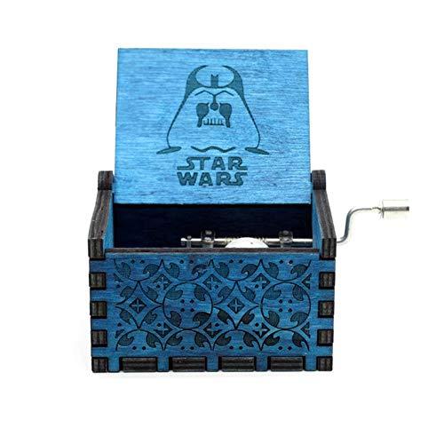 DXR Antique Bois Main Reine boîte à Musique rétro Gravure Jeu de trône boîte à Musique Noël Joyeux Cadeau, Star Wars