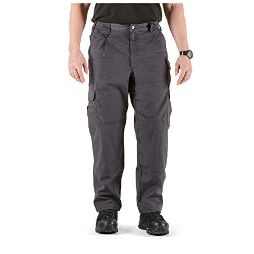 5.11 Tactical Men's Taclite Pro Lightweight Performance Pants, Cargo Pockets, Action Waistband, Charcoal, 44W x 32L, Style 74273