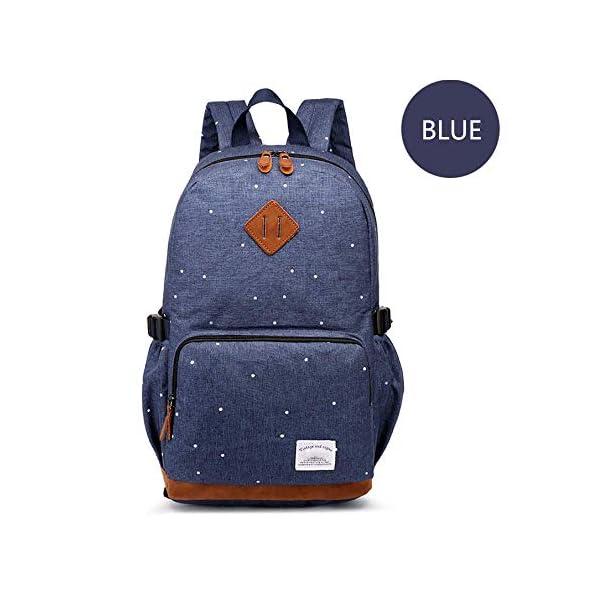 41W5LD18nML. SS600  - HFY Mujer Mochila Impermeable, Mochila para portátil Multiusos Daypacks 15.6 Pulgadas, para Negocio,Viaje,Escuela,Hombre Mujer Trabajo Diario (Azul)