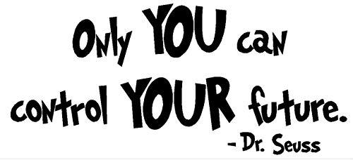 Vinilo adhesivo para pared, diseño de Dr.Seuss con citas artísticas inspiradoras de 25,4 cm de alto x 57,1 cm de ancho.