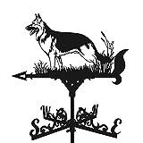 sfadf Banderín de metal con indicador de dirección del viento, bandera meteorológica retro,...