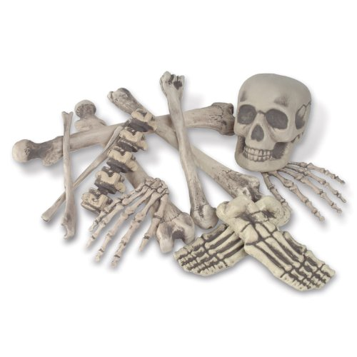 Skeleton Decoration Bone Décor, Bag of Bones, 6 inches to 16 inches, 12 Piece Set
