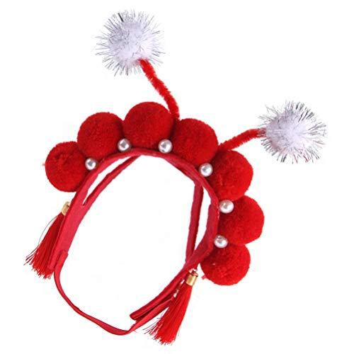 POPETPOP Disfraz Chino para Mascotas Diadema de La Opera China Novedad Lindo Sombrero de La Dinasta Tang China Tocado de Mascarada para El Regalo del Cachorro del Gato