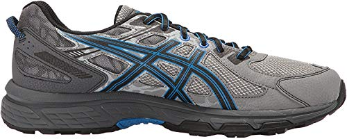 ASICS Men's Gel-Venture 6 Running Shoe, Aluminum/Black/Directoire Blue, 9 4E US