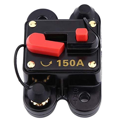 Vbestlife DC12V 80-300A Disyuntor para Coche, Barco Marino, Bicicleta, Audio estéreo, reinicio, Fusible(150A)