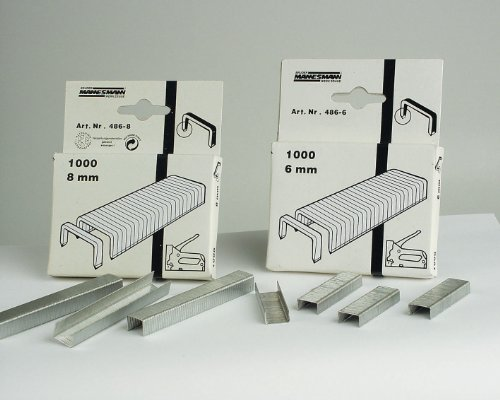 Brueder Mannesmann Werkzeuge M 487-10 Tacker-Klammern