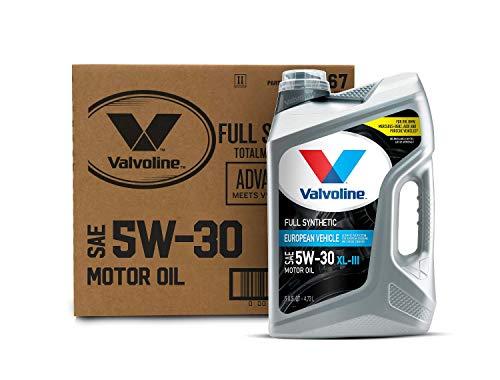 Valvoline European Vehicle Full Synthetic XL-III SAE 5W-30 Motor Oil 5 QT, Case of 3