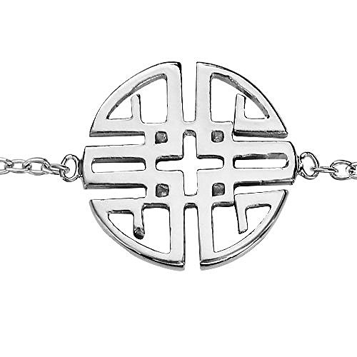 So Chic Joyas© pulsera longitud ajustable: 15,5A 17,5cm Mandala serenidad plata 925