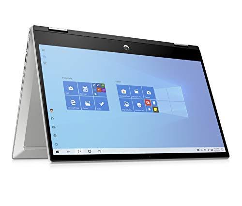 """HP - PC Pavilion X360 14-dw1000sl Notebook Convertibile, Intel Core i5-1135G7, RAM 8 GB, SSD 256 GB, Grafica Intel Iris Xe, Windows 10 Home, Schermo 14"""" Touch FHD, Lettore Impronte Digitali, Argento"""