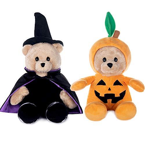 "My OLi 9"" Plush Halloween Toy Stuffed Animal Teddy Bear Plush Pumpkin Stuffed Wizard Toy with..."