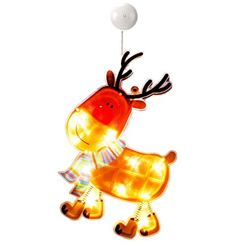 jieGorge Christmas String Lights, LED Christmas Decorations Santa Claus Christmas Tree, Home Decor, for Christmas Day (E)