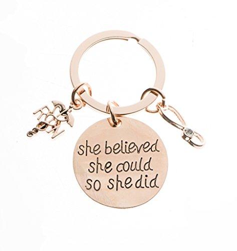 Nurse Keychain, Nurse Gift, Nursing Keychain Makes Perfect Nurses Gift