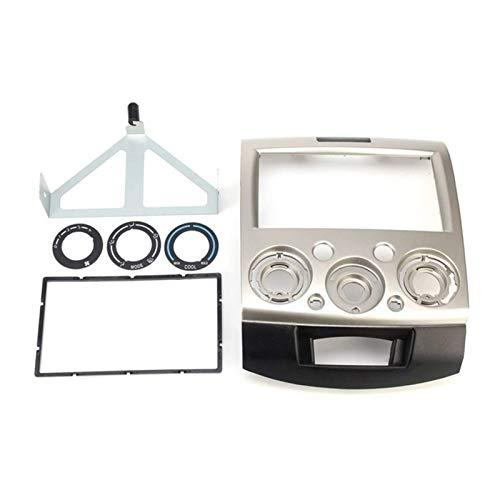 Marco de panel estéreo para radio de coche de 2 Din para CD, DVD, tablero de audio, ajuste para Ford Everest Ranger para Mazda BT-50 BT50 06-10 (dorado claro)