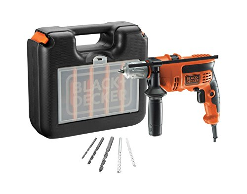 BLACK+DECKER CD714CRESKA-QS - Taladro percutor con maletin 710W