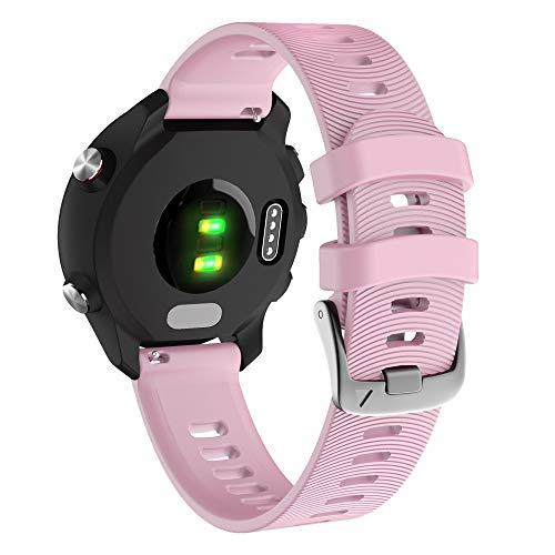 YOOSIDE für Garmin Vivoactive 3 Armband,20mm Silikon wasserdicht Ersatzarmband Uhrenarmband für Garmin Vivoactive 3 Music, Forerunner 645/645 Music,Vivomove HR (Rosa)