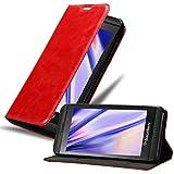 Cadorabo Funda Libro para Blackberry Z10 en Rojo Manzana - Cubierta Proteccíon con Cierre Magnético, Tarjetero y Función de Suporte - Etui Case Cover Carcasa