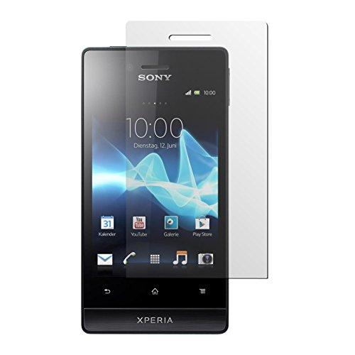 PhoneNatic 4er-Pack Displayschutzfolien klar kompatibel mit Sony Xperia miro