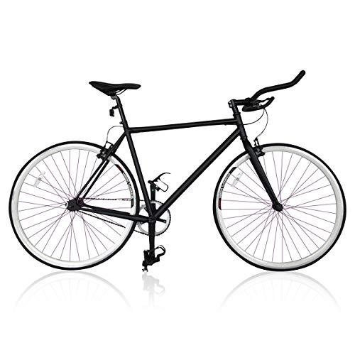 Vip4Vip Bicicleta Carrera Fixie Negra Cuadro Acero