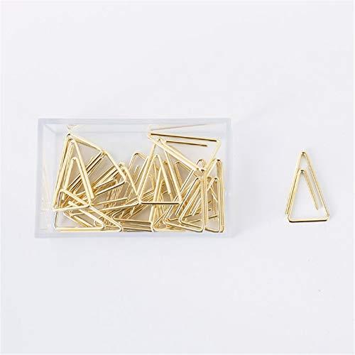 Clips de papel triangulares geométricos clip de papel de metal pinzas de papel para archivos de papel, suministros de oficina, hogar y escuela (10)
