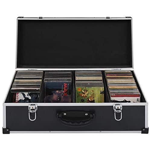 Cd-koffer voor 80 cds aluminium ABS zwart