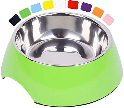 DDOXX Fressnapf, rutschfest   viele Farben & Größen   für kleine & große Hunde   Futter-Napf Katze   Hunde-Napf Hund   Katzen-Napf Edelstahl-Napf   Melamin-Napf   Grün, 160 ml
