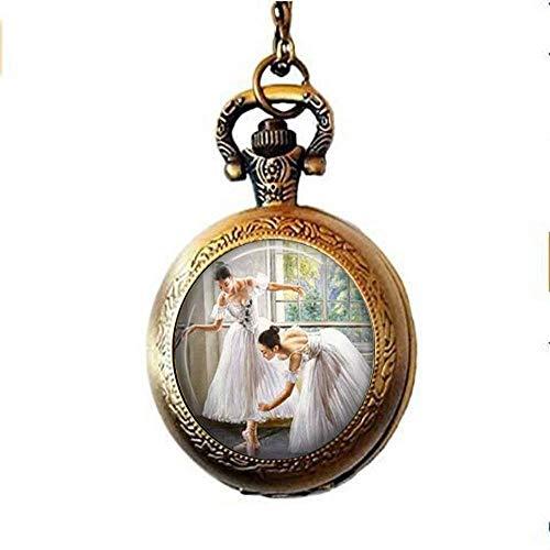 Ballet Jewelry - Reloj de bolsillo para ballet, estilo vintage, cristal