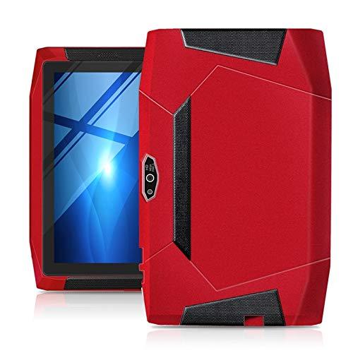 JSNASUI Tableta de 13 Pulgadas Niños Educación Tablet PC, 7.0 Pulgadas, 1 GB + 16 GB, Impermeable a Prueba de Polvo a Prueba de Golpes, Cortex A7 de cuádruple, Soporte WiFi, etc. (Color : Red)