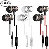 Auriculares con aislamiento de ruido, bajo impulsado, alta definición, compatible con iPod, iPad, reproductores MP3, Samsung, Nokia, HTC (negro)