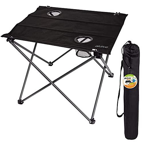AKTIVE 52843 - Mesa plegable textil para camping 61x53x51 cm AKTIVE Camping