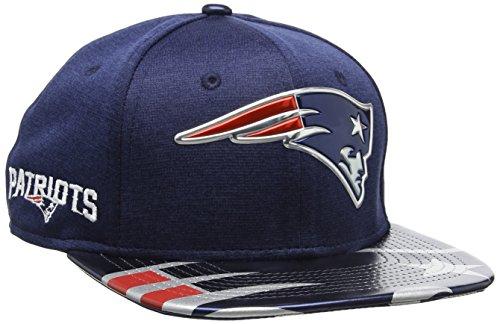 New Era Herren NFL 2017 Official On Stage 9Fifty New England Patriots Baseball Cap, blau (Marineblau), S/M