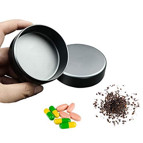 Y-only Pastillero Redondo pequeño, Caja medicamentos Viaje Metal, Portátil Impermeable Diario Vitaminas Organizador de Bolsillo,L