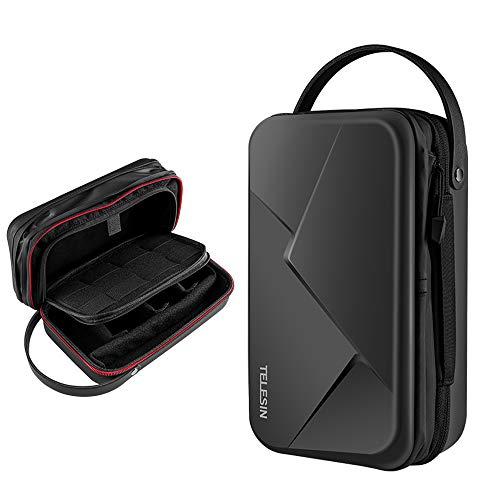 TELESIN Custodia impermeabile per GoPro Hero 9 Nero, Hero 8 Hero 7 6 5 4 Xiaomi Yi DJI Osmo Action Custodia Protettiva Box Accessori (versione espansa)