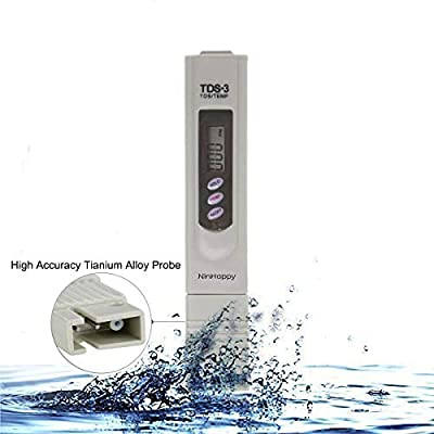 ?2020 Latest?TDS Meter?NinHappy Water Quality Tester,0-9999ppm Meter,LCD Display,Accuracy Testing Water Meter for Drinking Water, Aquariums,RO System,Swinging Pool and More