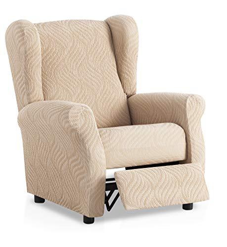 Funda de sillón Relax elástica Aitana - Color Marfil - Tamaño estandar (Contáctanos para Mayor información)