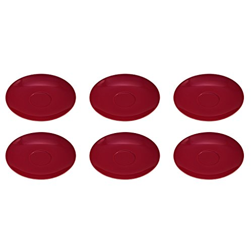 Flirt by R&B 516111 Doppio Kaffee-Untere/Untertasse Ø 16 cm, Porzellan, rot (6er Pack)